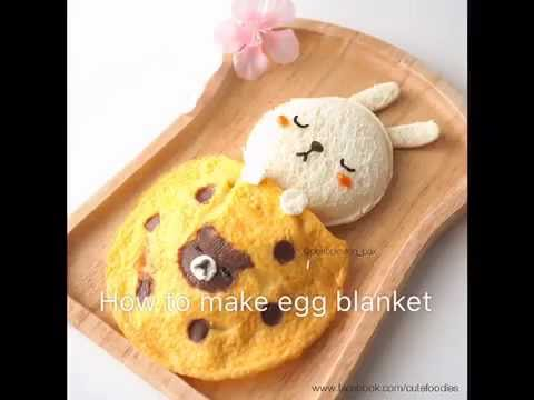 How to make egg blanket in cute food