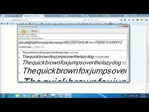 How to Download and Install a font in word in Bangla