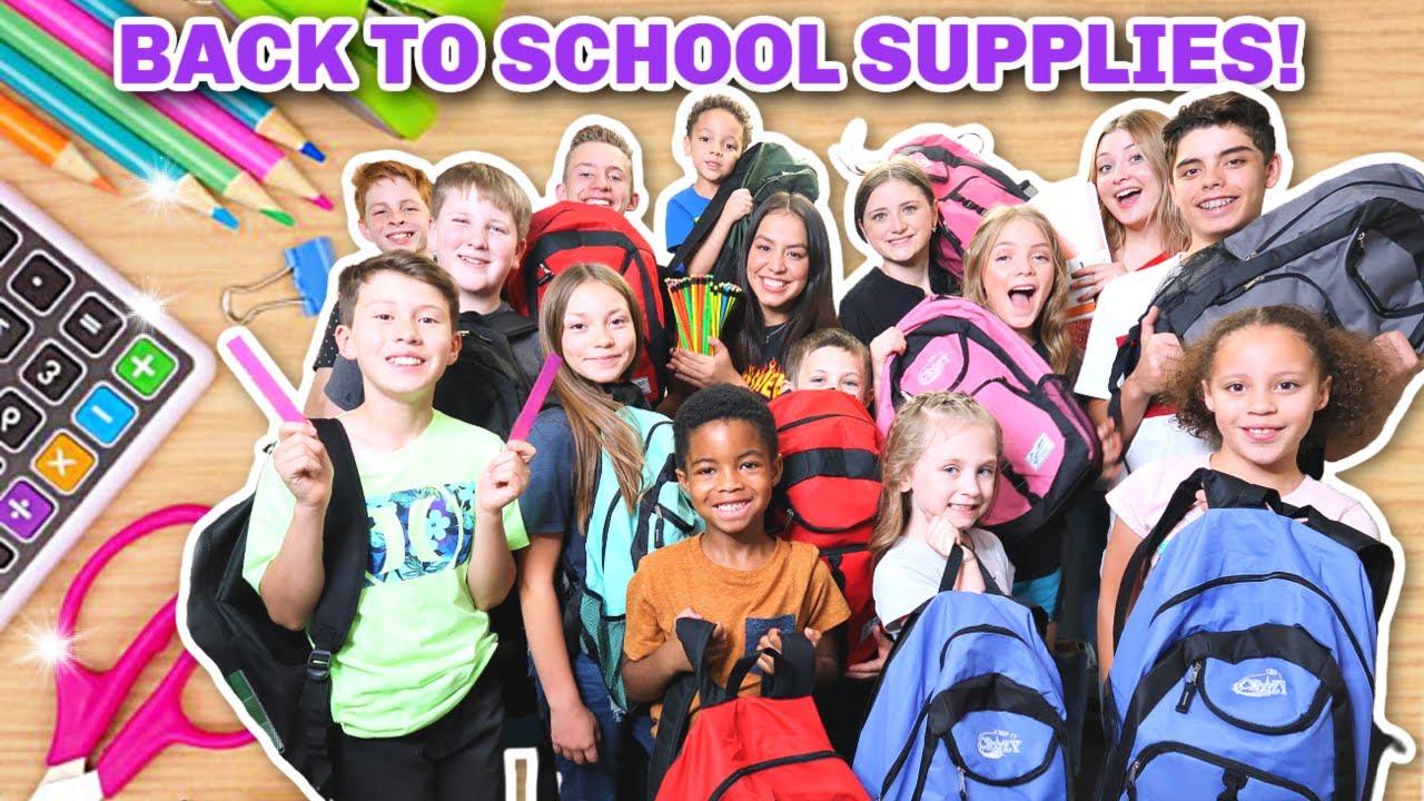 School Supplies For 14 Kids!   Home-school Supplies!   Back To School 2020!