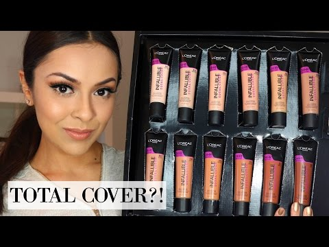 L'OREAL INFALLIBLE TOTAL COVER FOUNDATION First Impression, Swatches, Demo - TrinaDuhra