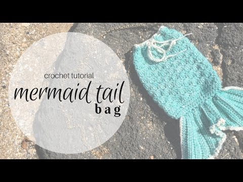 Crochet Mermaid Tail Bag