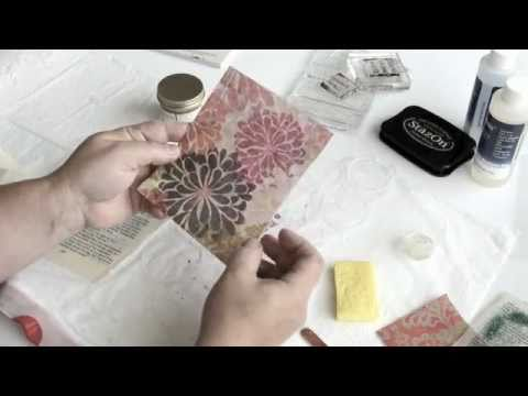 Resin Paper Tutorial by Stampington & Company
