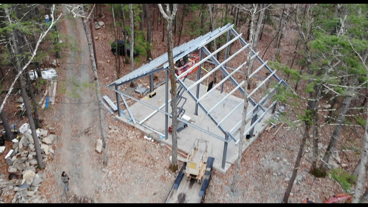 Setting up a metal building