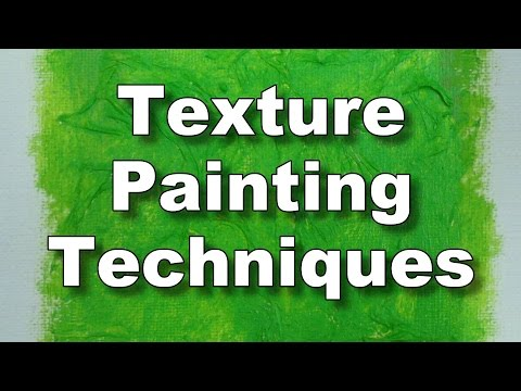 How to use texture paste and gel - acrylic & oil texture painting techniques