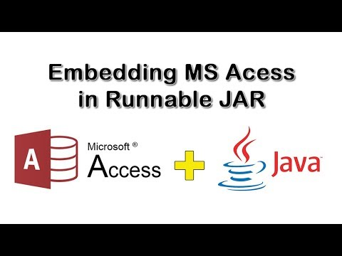 How To Embed MS Access Database in Runnable JAR File