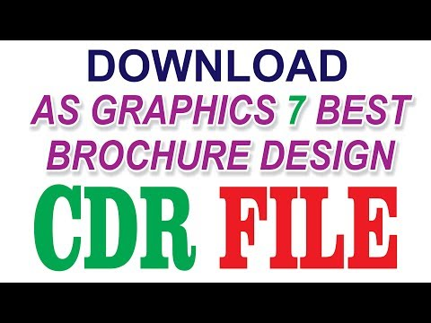 CorelDraw x7 Tutorial - How to Download Brochure Design CDR File With AS GRAPHICS