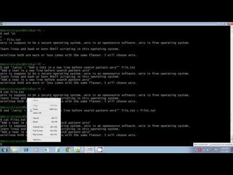 Unix shell scripting sed command insert append change command part 5
