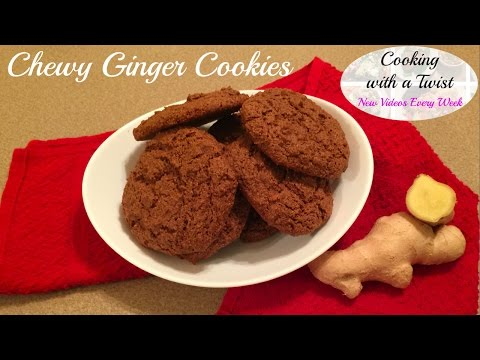 How to make Ginger Cookies - Gingersnap Cookies - Ginger Cookies Recipe - Gingersnap Cookie Recipe