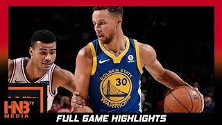 Golden State Warriors vs Philadelphia 76ers Full Game Highlights / Week 5 / 2017 NBA Season