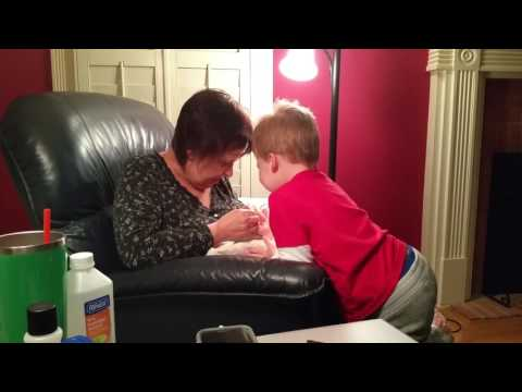 Grandmom remove splinter