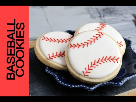 HOW TO DECORATE BASEBALL COOKIES, HANIELA'S