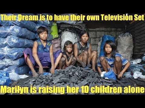 Manila Slums: Travel to the Philippines and Meet the Poor. Their Dream is to Have a Television Set
