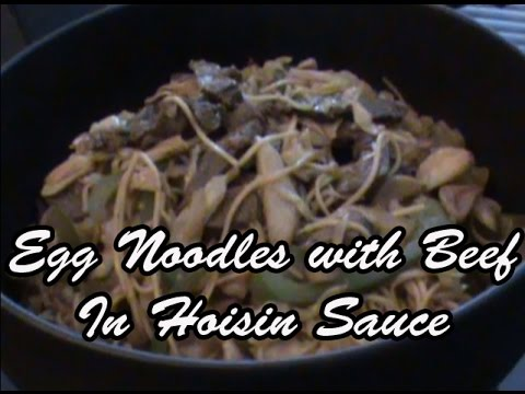 Egg Noodles with Beef in Hoisin Sauce