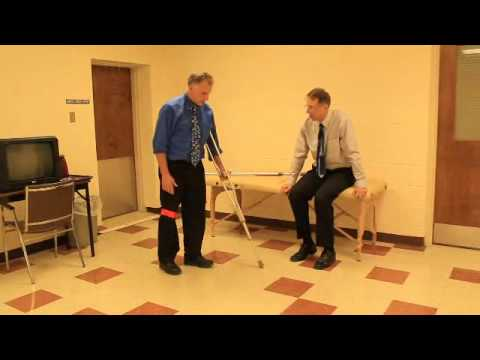 How to Properly Walk with One Crutch