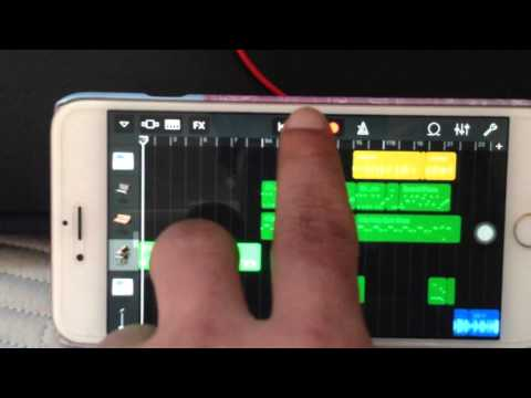 Iphone 6plus Remix use App GarageBand
