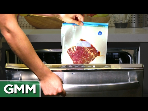 Cooking a Steak in a Dishwasher