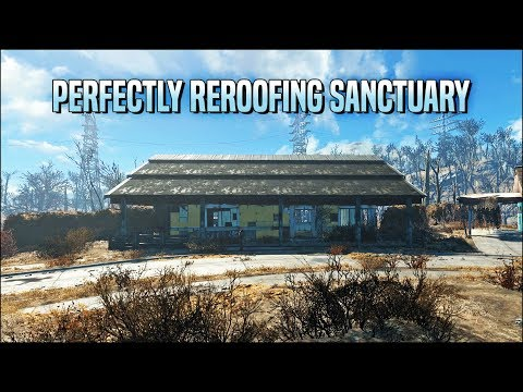 Perfectly Reroofing Sanctuary 🏠 Fallout 4 No Mods Shop Class