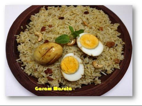 Egg Biryani Kerala Style by Garam Masala