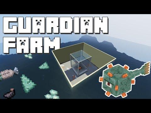 Minecraft: Guardian Farm Tutorial [11000 Drops/Hour]