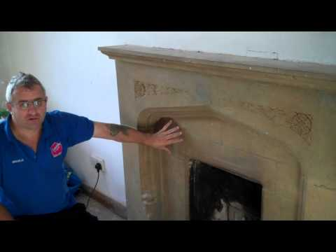 Bedford Stone Fireplace Cleaning www.tile-stone-grout-cleaning-northampton.co.uk