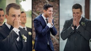 Montage of Emotional Wedding First Looks