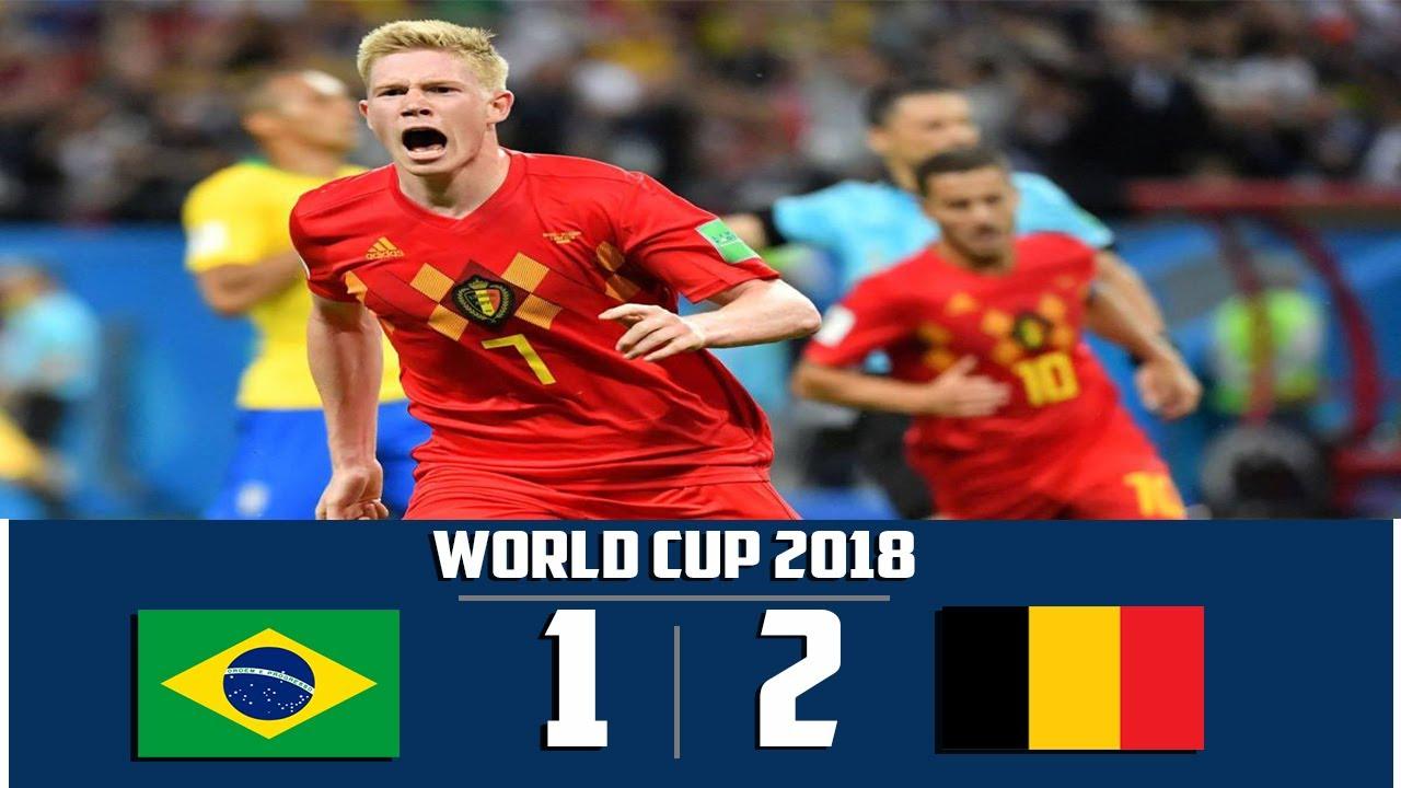 مباراة البرازيل و بلجيكا كاس العالم  2018  عصام الشوالي