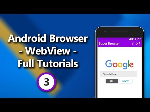 Android Browser - WebView - Complete Tutorial Series Part 3 - Adding Swipe Refresh, URL Share, etc