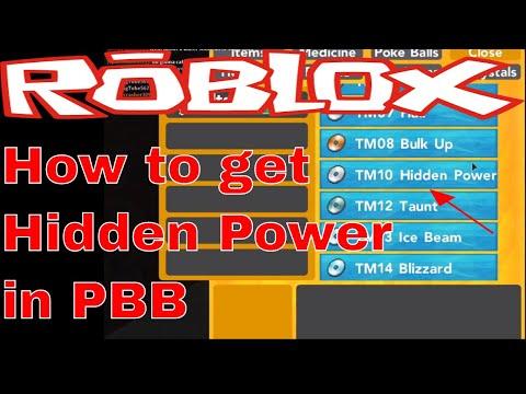 ROBLOX POKEMON BRICK BRONZE   How to get Hidden Power in PBB!!!