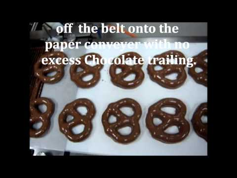 Making Plain Chocolate Covered Pretzels At Amarah's Chocolate