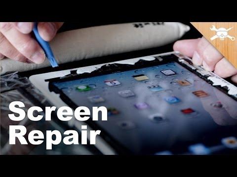 Fixing Broken Screens. Replacing Broken iPhone 5 and iPad 2 Glass