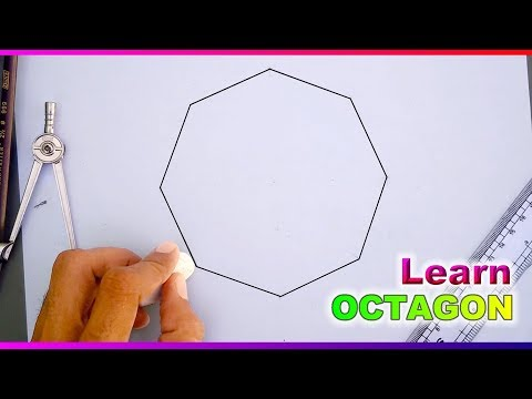 Learn to draw Octagon with compass and ruler