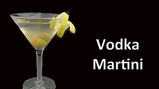 Perfect Vodka Martini Cocktail Recipe Video. This is the cocktail drink that the James Bond movies made famous.  Before James Bond most martinis where made with gin. Subscribe to for more drink recipes.More cocktail drink recipes at http://barbook.com/drink-videos ------------------------ Recipe 1 Dash of Dry Vermouth 2 oz. Vodka Shake with ice  Olive garnish Enjoy