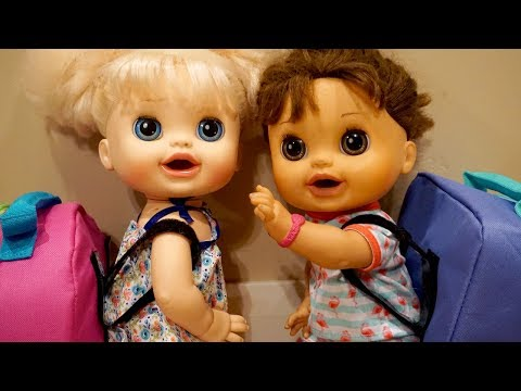 BABY ALIVE Back To School Backpacks And Packing With Pumpkin, Audrey And Jasper!