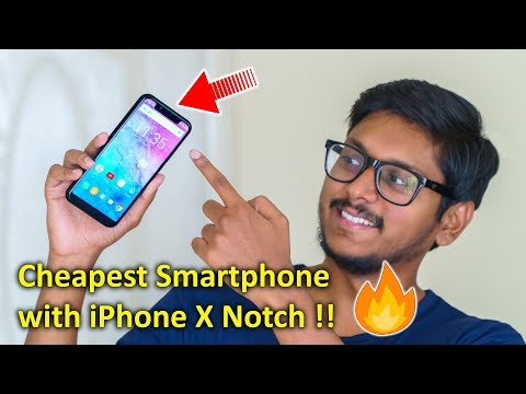 Cheapest Smartphone with iPhone X Notch !!
