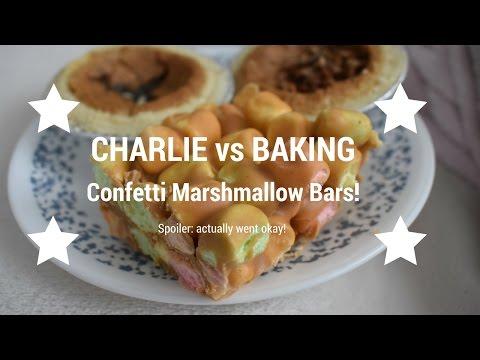 Charlie vs Baking: Confetti Marshmallow Bars