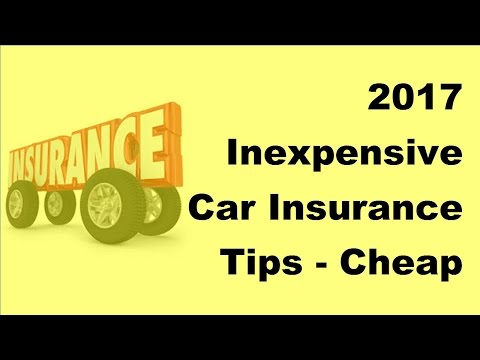 2017 Inexpensive Car Insurance Tips |  Cheap Car Insurance in NY State