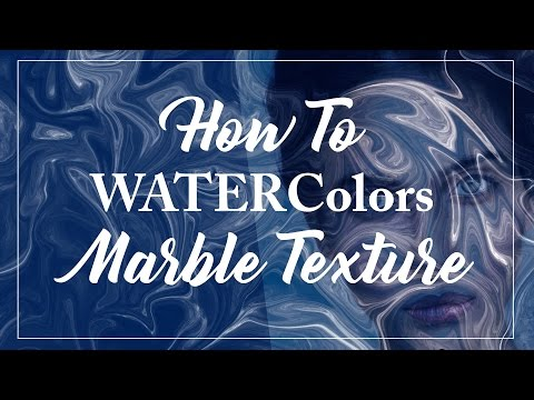 How To Make Marble Watercolor Texture in Photoshop
