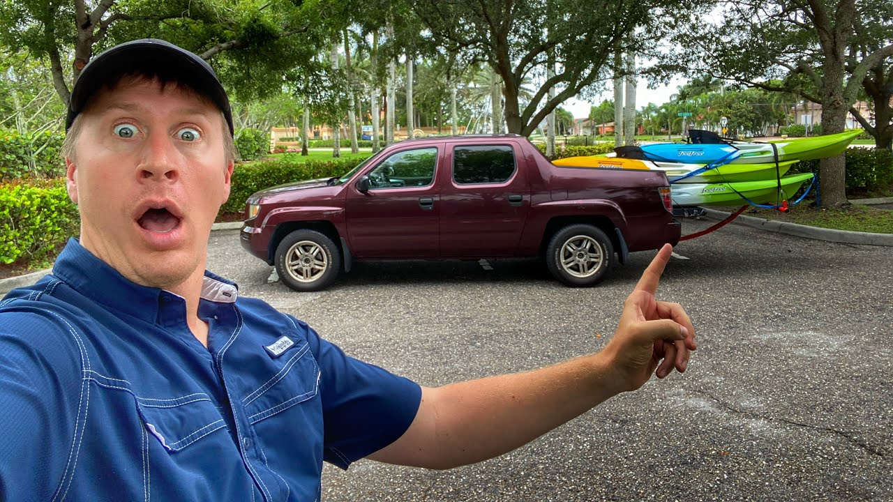 Transporting LONG Kayaks With SHORT Bed Trucks