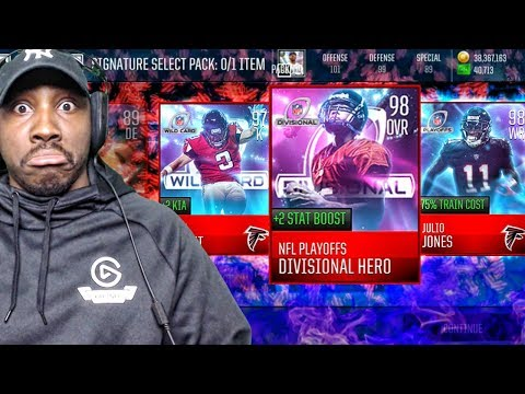 98 OVR DIVISIONAL HERO EVENTS & SIG PACK OPENING! Madden Mobile 18 Gameplay Ep. 26