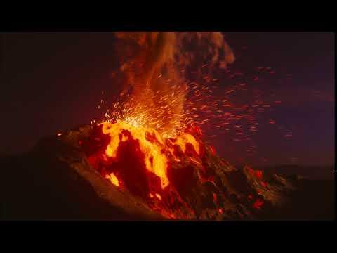 realistic volcano eruption made in blender