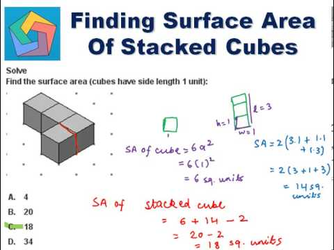 Finding Surface Area of Stacked Cubes