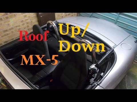 Mazda MX-5 How to get the Roof Down and Up
