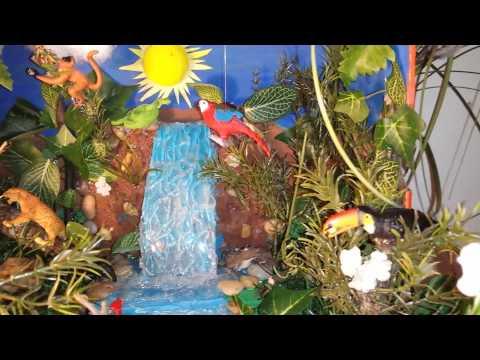 Crazy cool diorama rainforest