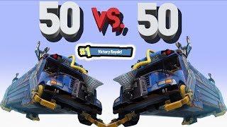 BATTLE BUS VS BATTLE BUS / NEW FORTNITE 50 VS 50 MODE!