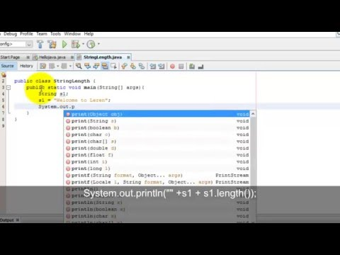 Java Tutorials - Create a program to find out length of String