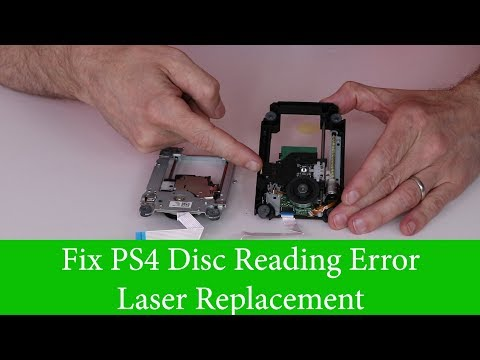 PS4 Disc Reading Error - Laser Fix - How to Replace