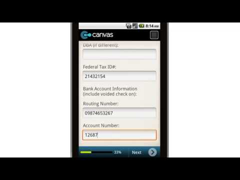 Canvas Payroll Pre Start Up Direct Deposit Setup Request For Employer Mobile App