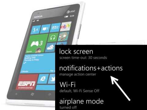 Windows 8.1 Phone Change Shortcuts In Notification Center
