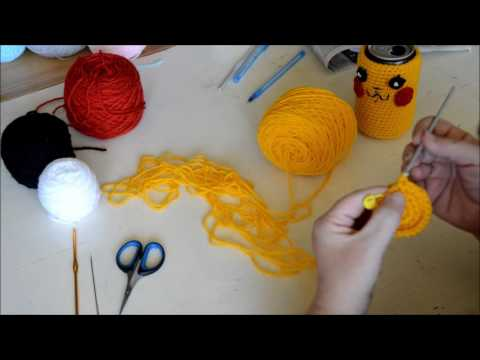 Pikachu Can Cozy - Crochet - Tutorial - English