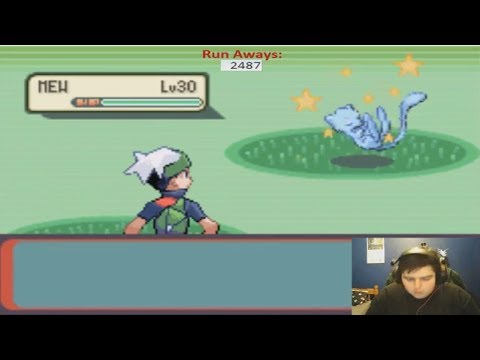 Live! Shiny Mew after only 2,487 RA's on Emerald! {w/facecam}